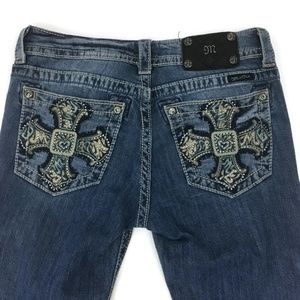 Miss Me Jeans JP5697B Boot Embroidered Crosses
